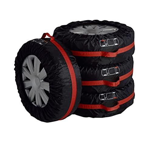 T.Y.G.F 4 Cubiertas para neumáticos de Coche, Funda de Rueda de Repuesto Negra Fundas para Ruedas Neumático, Cubierta de Rueda de Repuesto para Coche, SUV, Caravana