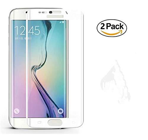 Copmob Samsung S7 Edge Vetro Temperato, [2-Pack] Durezza 9H, Ultra Resistente, Anti Scratch Tocco Morbido e Alta qualità,Copertura a Schermo Intero, Pellicola Vetro Samsung S7 Edge-Bianco