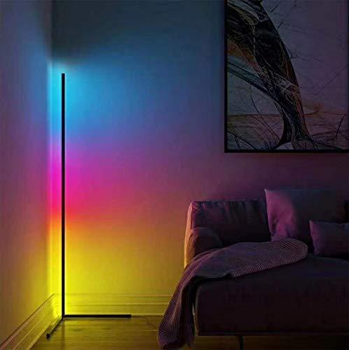 GOHHK Lámpara pie LED Minimalismo Lámpara pie Esquina LED Decoración Colorida para Sala Estar Luz Piso Dormitorio Lámpara pie Noche Iluminación Interior