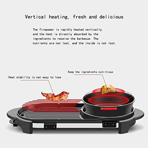 41YurrqcxNL - CJTMY Hot Pot Barbecue Integrierte Topf, Aluminium-Legierung Material, Elektro Hot Pot Indoor Barbecue-Ofen Hot Pot (mit Teiler)