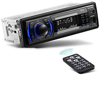 BOSS Audio Systems 616UAB Multimedia Car Stereo - Single Din LCD Bluetooth Audio and Hands-Free Calling Built-in Microphone MP3/USB Aux-in AM/FM Radio Receiver