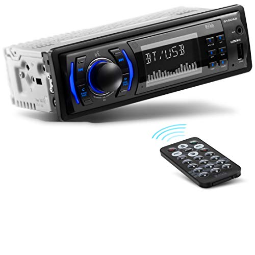 BOSS Audio Systems 616UAB Multimedia Car Stereo - Single Din LCD Bluetooth Audio and Hands-Free Calling, Built-in Microphone, MP3 USB, Aux-in, AM FM Radio Receiver
