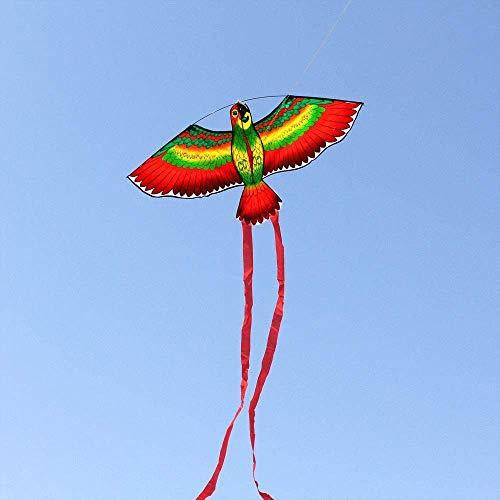 Forte e Robusto Aquilone, Bambini Kite Belle Aquiloni for Kids Facile da pilotare for la Spiaggia Outdoor Pollo Kite Scheletro Duro (Colore: Bianco) (Color : Red Parrots)