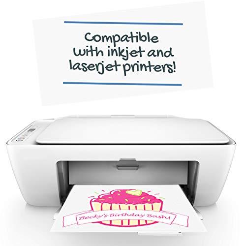Inkjet Printable Iron On Heat Transfer for Dark Fabrics, 8.5 x 11 inch, (100 Sheets) by NuFun Activities