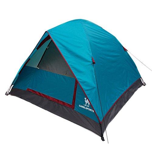 tente de camping tente dôme extérieure tente de camping en plein air ouvert trois à vitesse unique mis en place pour Free