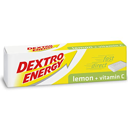 Dextro Energy Lemon Glucose Tablets with Vitamin C, 47 g, 24 Packs, Energy Tablets, for a Quick Burst of Glucose