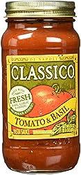 Classico Pasta Sauce, Tomato & Basil, 24 oz