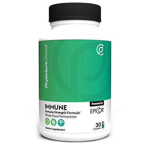 Daily Proven Immune Support - Immune Featuring EpiCor + Vitamin C and Zinc - Immune Booster for Adults and Children - Kosher Whole Food Fermentate - Respiratory Support and Defense - 30 Capsules