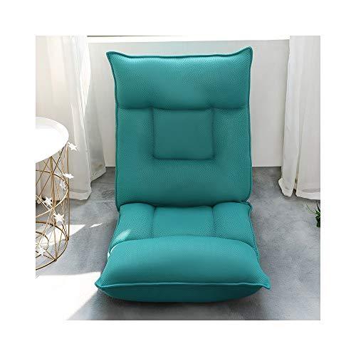 ZYLE Tatami Sofá de Tela Sencilla Lazy sofá Cama Respaldo Dormitorio Bahía Ventana Casual Cojín Grueso 55 × 110 × 15cm (Color : Green)