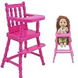 AMOYER 1pc Rose Assemblée Chaise Haute pour Enfants Meubles Dîner Jouets Dollhouse Accessoires pour Soeur Jouet