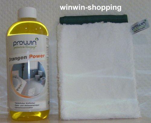 proWIN Orangen Power 1L & Handschuh Mikro Standard -Setpreis-