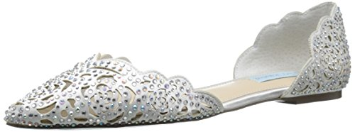 Blue by Betsey Johnson Women's SB-Lucy, Ivory Satin, 10 M US