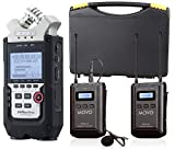 Zoom H4n PRO 4-Channel Handy Recorder Bundle with Movo UHF Wireless Lavalier Microphone System