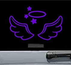 Angel wings and halo Vinyl Decal Sticker (PURPLE)