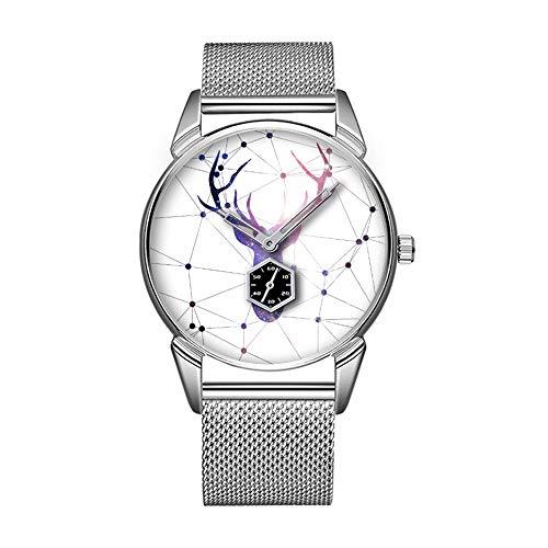 Mode wasserdicht Uhr minimalistischen Persönlichkeit Muster Uhr -477. interstellare Hirsche