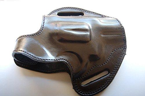 Cal38T6 Leather Belt Custom Holster for Taurus 605 357 Magnum Snub Nose Revolver (Black)