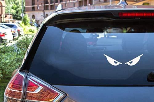 Adesivo per auto Adesivo per auto 14 cm X 4 cm Casco moto riflettente bianco o nero adesivo in vinile riflettente Occhi diabo