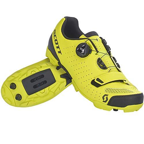 SCOTT Zapatilla MTB Future Pro Ciclismo, Juventud Unisex, Yellow/Black, 37
