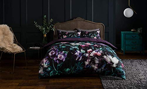 Sleepdown Opulent Floral Reversible Bedding Duvet Set & Pillowcases (Double Bedding)