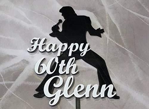Elvis Presley Birthday Cake Topper Personalized