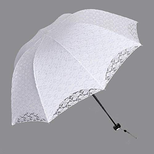 NFRADFM Paragua,Paraguas de encaje,Sombrilla anti-UV para mujer,Actividad boda impermeable plegable paraguas femenino