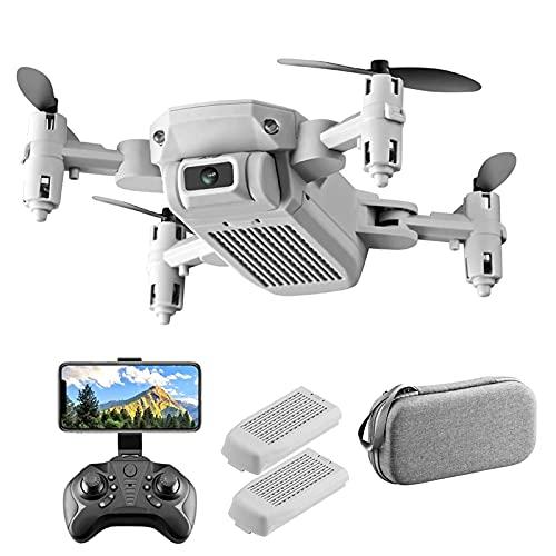 FMHCTN Mini Drone 4K HD per Bambini, Motore Brushless 2.4G WiFi Trasmissione Drone Video Live FPV, Quadricottero RC con Ritorno Automatico a Casa Grigio-2