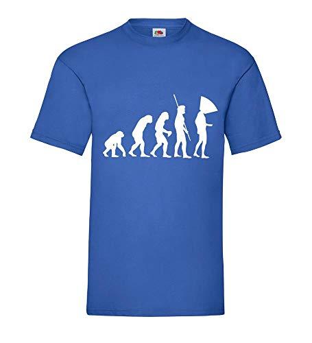 Evolution Hundehalskragen Männer T-Shirt Royal Blau 3XL - shirt84.de