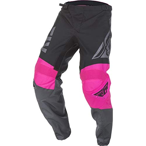 Fly Racing 2019 Youth F-16 Pantalones (24) (rosa neón/negro/gris)