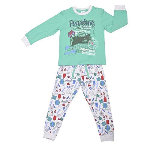 YATSI - Pijama TOBOGÁN NIÑO niños Color: Verde Talla: 4