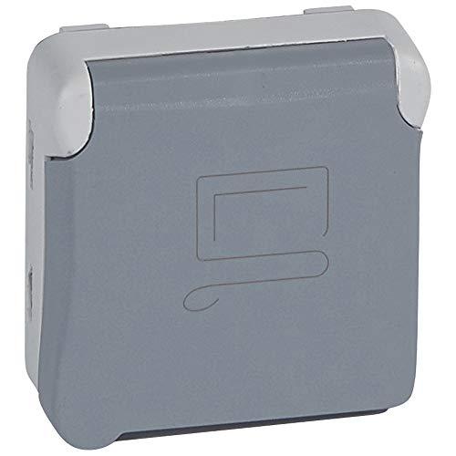 LEGRAND - Prise 2P+T à détrompage composable gris 16 A 250 V LEGRAND PLEXO 069553 - LEG-069553