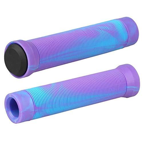 ZTTT Stunt Stunt Hot SCUNT Scooter APISTRADAS BMX APISTRAS Soft Bicicletas Soft BICIPAÑAS HANDERBAR ARRÍCULA ARRÍCULA ANTILIZADOR (Color : Blue with Purple)