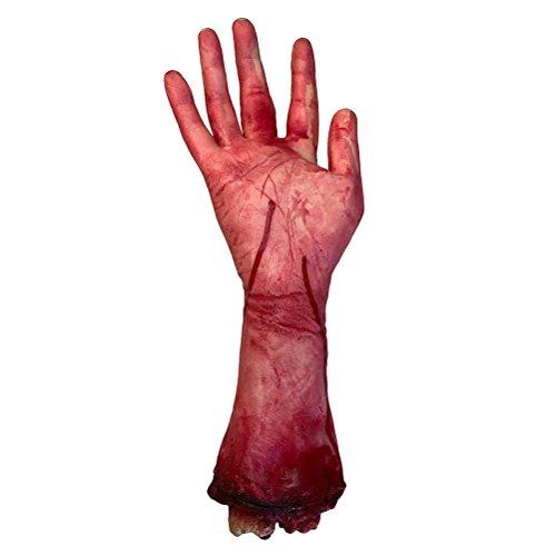 BESTOYARD Gebroken Hand Bloed Horror Halloween Decoratie Ernstige Bloedige ledematen Nieuwigheid Dode Gebroken Hand Gadgets voor Mannen