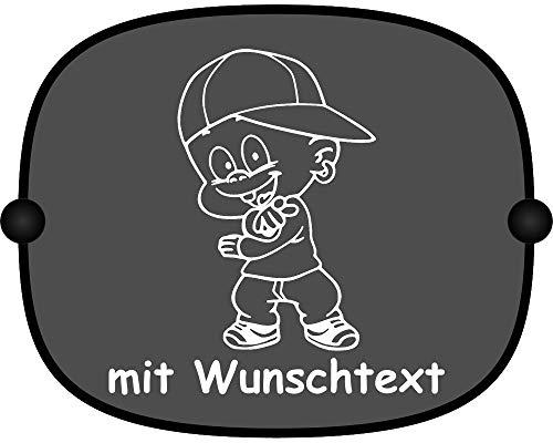 Windel Winni Sonnenschutz Auto Baby Kinder Sonnenblende mit Wunschtext - Motiv WW18 (großer Aufdruck)
