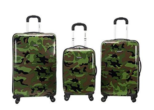 Rockland Safari Hardside Spinner Wheel Luggage, Camouflage, 3-Piece Set (20/24/28)