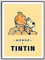 火星探査冒険壁アートプリント漫画キャラクター犬コミックキャンバス絵画ヴィンテージクラフトポスターキッズルーム家の装飾40x60cmフレームなし