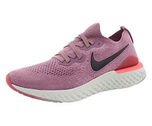 Nike Women's Epic React Flyknit 2 Running Shoes (9, Plum/Coral/Grey)