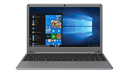 ODYS mybook 14 PRO 35,56 cm (14 Zoll) Full HD Notebook (Intel Celeron Quad Core Prozessor N3450, 64GB Festplatte, 4GB RAM, M.2 SSD-erweiterbar, Win 10 S-Mode) Grau (QWERTZ Tastatur)