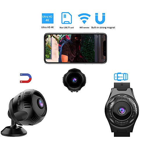 VRVZU Wireless Hidden Camera Wearable Spy Camera Ultra HD 4k Mini WiFi Camera