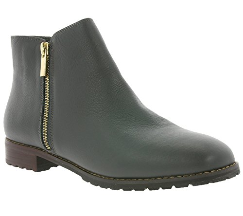 Heine Damen-Stiefelette Leder-Stiefelette Ankle-Boots grau (38 EU)