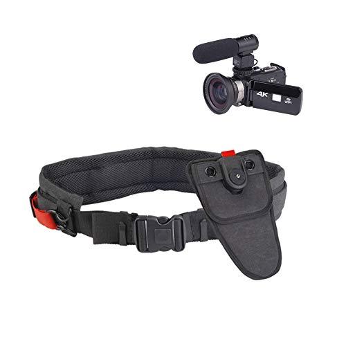 M3M Juego de Cinturones de fotografía de Seguridad, cámara SLR con cinturón de Hebilla, Equipo fotográfico Especial Flexible 3D, Doble cinturón de Seguridad de Hebilla Ajustable