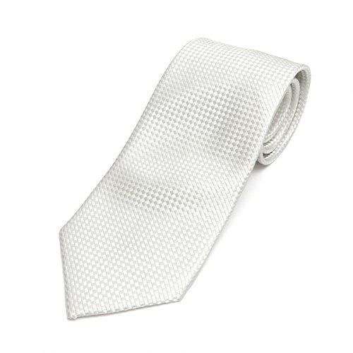 ブリックハウス 冠婚葬祭 礼装 ネクタイ 絹100% 無地織柄 メンズ BM15X000GB001ST-90-912 ホワイト