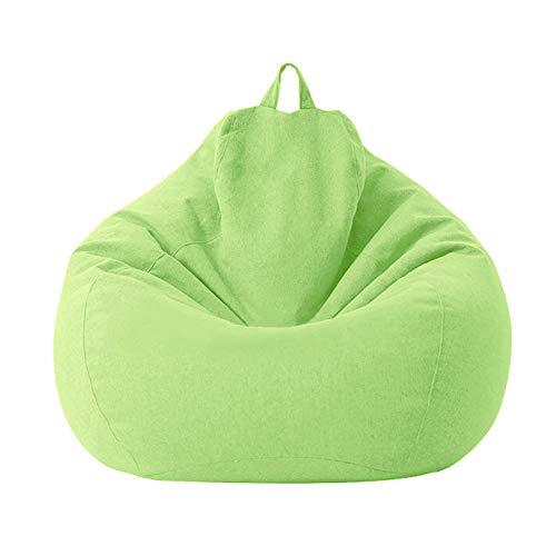 ZDYS Sitzsack für Kinder und Erwachsene, extra groß, waschbar, Leinen, ohne Füllstoff
