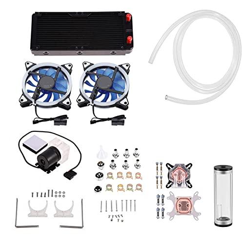 240 mm Todo en uno Refrigeración por Agua DIY Kit fácil Conveniencia Eficiencia CPU