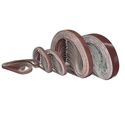10 Schleifbänder für Bandschleifer Größe 65 x 410 mm Körnung P180