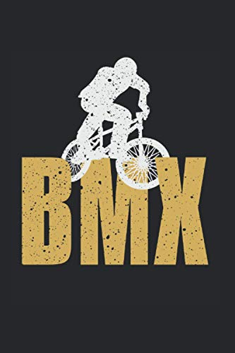 BMX Distressed Artwork Biking: College Ruled Lined BMX Notebook for BMX Lovers or Bike Drivers (or Gift for Extreme Sports Lovers or Bike Shop Owners)