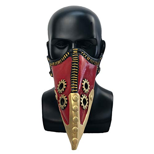 My Hero Academia Kai Chisaki Mscara Overhaul Black Plague Doctor Mscara Puntelli di Halloween Crow Bird Beak Nariz larga Fiesta de Disfraces Steampunk