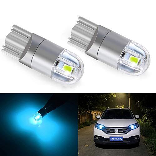 Sagesunny t10 w5w luce di posizione a led luci notturne 12v 8000K blu 168194 indicatori di direzione a led per lampadina a piastra a led luce notturna per moto-un anno di garanzia