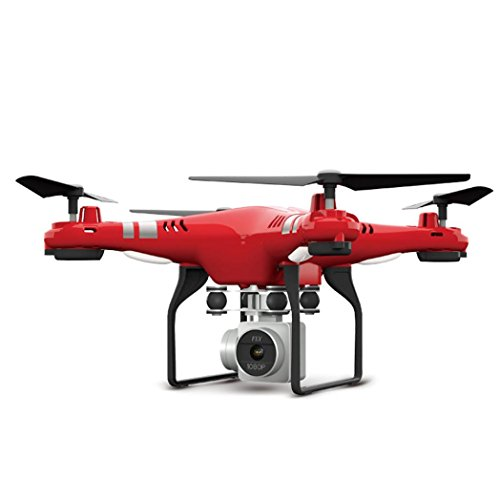 SHOBDW 2.4G Höhe Hold HD Kamera Quadcopter RC Drone WiFi FPV Live Hubschrauber Hover (Rot)