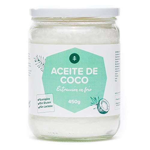 Planeta Huerto   Aceite De Coco Virgen Extra Eco 450 gr   50% Ácido Laúrico Antioxidante, Sin Gluten, Sin Lactosa