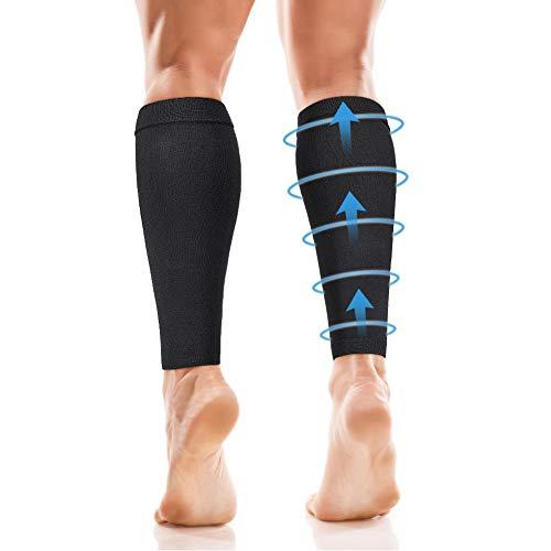 DOACT skarpety uciskowe dla mężczyzn i kobiet, ochraniacz na łydkę (20-30 mm Hg), rękawy uciskowe na nogi do biegania, szyny łydek, medyczne, podróże, pielęgniarstwo, jazda na rowerze, łagodzą ból łydek